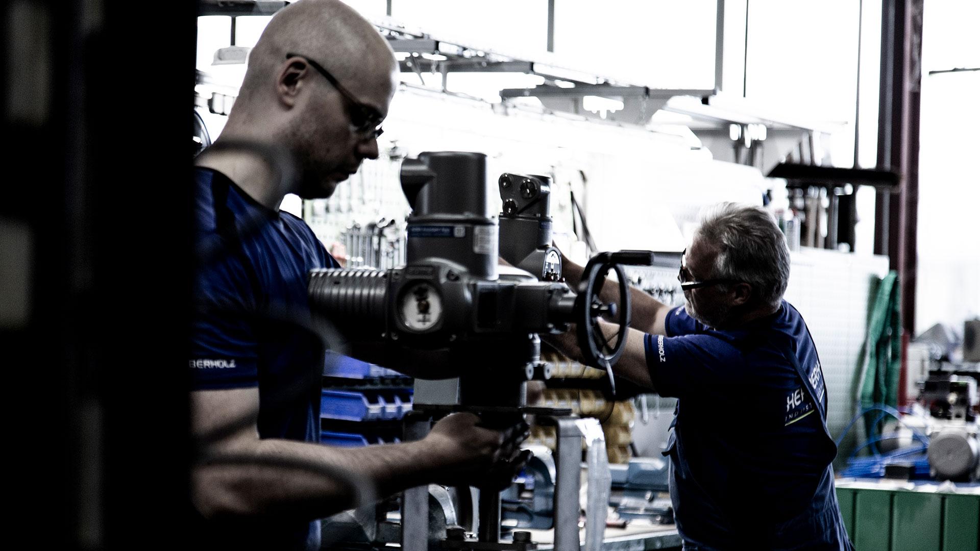 Industriearmaturen drosselklappen regelklappen absperrklappen herberholz engineering